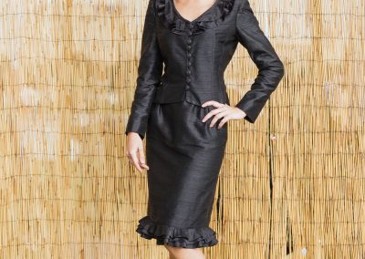 Flora Gauthier, création de tailleur sur mesure